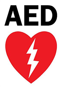 Automatic external defibrillator graphic