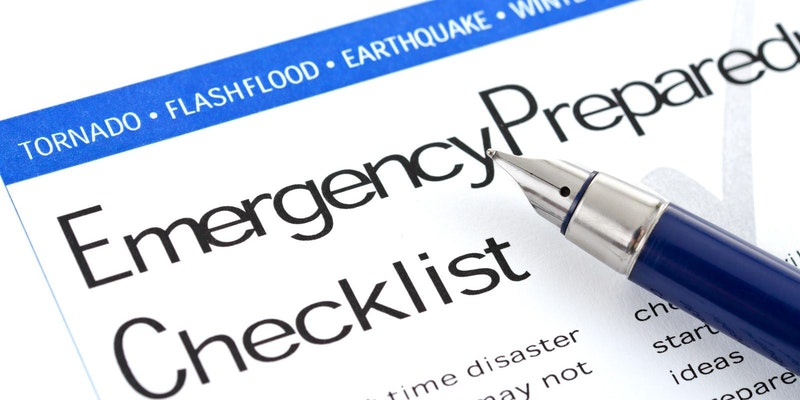 Emergency Checklist for preparedness